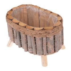 Oválný dřevěný truhlík na nožičkách Dakls