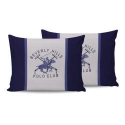 Sada 2 bavlněných povlaků na polštářky Polo Club Blue,50x70cm