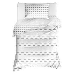 Povlečení na jednolůžko z ranforce bavlny Mijolnir Cubuk White, 140x200cm