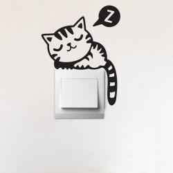 Dekorativní samolepka Sleepy Cat, 17 cm