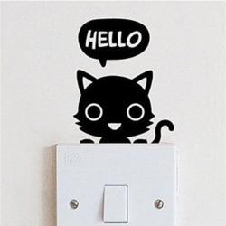 Dekorativní samolepka na zeď Hello Catty