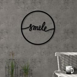 Nástěnná kovová dekorace Smile, ⌀ 40 cm