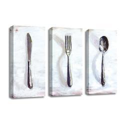 3 dílný obraz na plátně Dinner