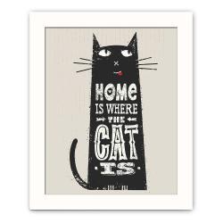 Dekorativní obraz Cat, 28,5x23,5 cm