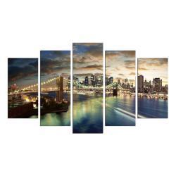 Vícedílný obraz Bridge NYC, 110x60 cm
