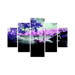 Vícedílný obraz Purple Water, 92x56 cm