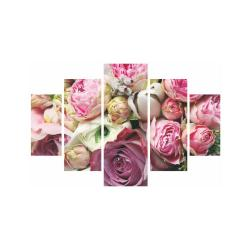 Vícedílný obraz Roses Are Pink, 92x56 cm