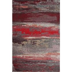 Koberec Eco Rugs Red Abstract, 80 x 150 cm