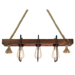Dřevěné stropní závěsné svítidlo Demir, 3žárovky