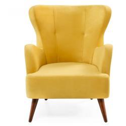 Žluté křeslo ušák Balcab Home Jane