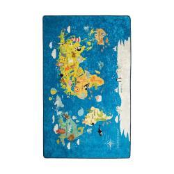 Dětský koberec World Map, 100x160cm