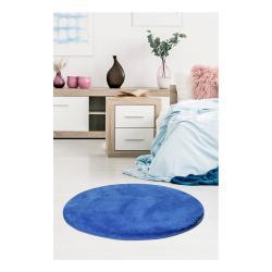 Modrý koberec Milano, ⌀90cm