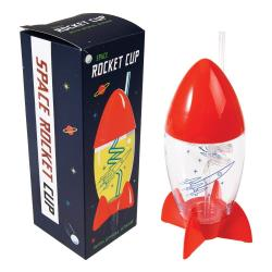 Dětský pohár s brčkem ve tvaru rakety Rex London Space Age