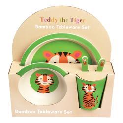 Sada dětského bambusového nádobí Rex London Teddy the Tiger