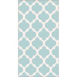 Světle modrý koberec Vitaus Elisabeth, 50x80cm