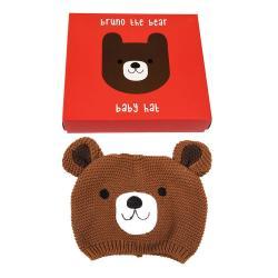 Dětská čepička ze 100% bavlny s medvídkem Rex London