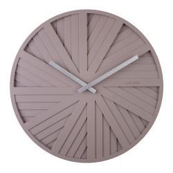 Šedé nástěnné hodiny Karlsson Slides, ø 40 cm