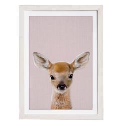 Nástěnný obraz v rámu Querido Bestiario Baby Deer, 30 x 40 cm