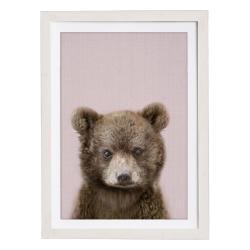 Nástěnný obraz v rámu Querido Bestiario Baby Bear, 30 x 40 cm