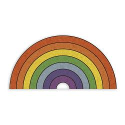 Korková nástěnka ve tvaru duhy Really Nice Things Rainbow, 70 x 50 cm