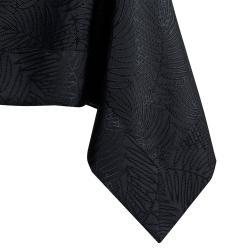 Černý ubrus AmeliaHome Gaia Black, 110 x 160 cm