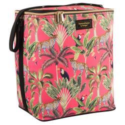 Chladící taška s tropickým potiskem Navigate Cheetah Coral, 15 l