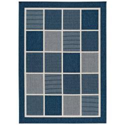 Modrý venkovní koberec Universal Nicol Squares, 80 x 150 cm