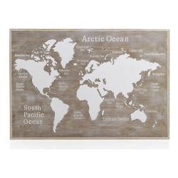 Dřevěné postelové čelo Geese Rustico World, 100 x 145 cm
