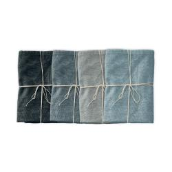 Sada 4 látkových ubrousků s příměsí lnu Linen Couture Blue Gradient, 43 x 43 cm