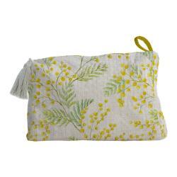 Látková kosmetická taštička Linen Couture Mimosa, šířka 50 cm