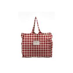 Látková taška Linen Couture Linen Bag Red Vichy