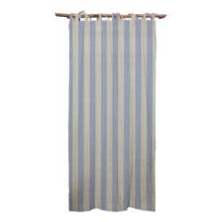 Modrý závěs Linen Cuture Cortina Hogar Blue Stripes