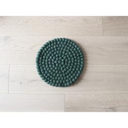 Tmavě zelený kuličkový vlněný dětský podsedák Wooldot Ball Chair Pad, ⌀ 30 cm