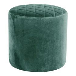 Zelený puf ze sametu House Nordic Ejby, ø 34 cm