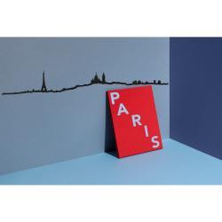 Černá nástěnná dekorace se siluetou města The Line Paris