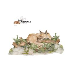 Nástěnná samolepka Dekornik My Little Wild Cat, 160x75cm