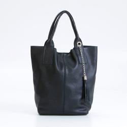 Černá kožená kabelka Giorgio Costa Lauretta