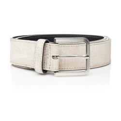 Bílý kožený dámský pásek Ferruccio Laconi Nike, délka 95 cm