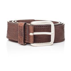 Hnědý kožený pánský pásek Ferruccio Laconi Sven, délka 105 cm
