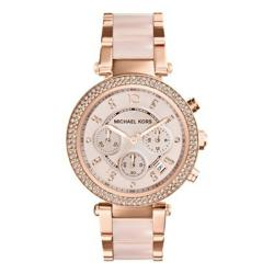 Dámské růžové hodinky s detaily v barvě růžového zlata Michael Kors Blush