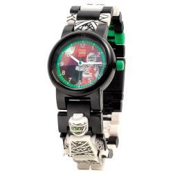Černé náramkové hodinky se skládacím řemínkem a minifigurkou LEGO® Iconic Mumie