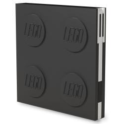 Černý čtvercový zápisník s gelovým perem LEGO®, 15,9 x 15,9 cm