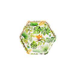 Sada 8 papírových talířů GiviItalia Golden Jungle, ⌀ 23 cm