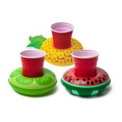Sada 3 nafukovacích kruhů na nápoje ve tvaru ovoce Big Mouth Inc.