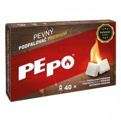PE-PO Pevný podpalovač Premium, 40 podpalů