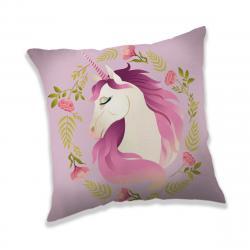 Jerry Fabrics Polštářek Unicorn flower, 40 x 40 cm