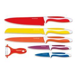 Sada 5 nožů a škrabky z nerezové oceli InnovaGoods Ceramic