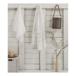 Sada 2 bílých ručníků Hammam Sultan