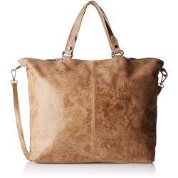 Hnědobéžová kožená kabelka Chicca Borse Terracia
