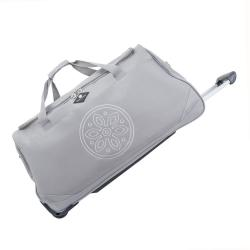 Světle šedá cestovní taška na kolečkách GERARD PASQUIER Miretto, 91 l
